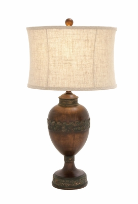 Stylish Unique Styled Polystone Metal Table Lamp - 97337 by Benzara