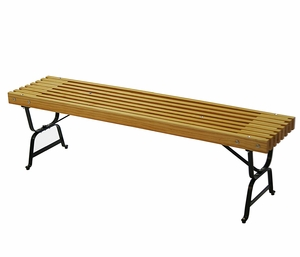 Stylishly Crafted Mall Style Bench by Alogma
