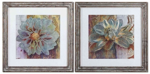 Sublime Truth Art with Wood Look Frames - Set of 2 Brand Uttermost