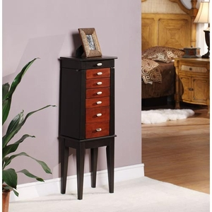 Sumba Yin Yang 6 Drawer Jewelry Armoire with Contoured Design Brand Nathan