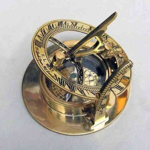 Sun Dial Compass Brass An Interesting And Involving Nautical Decor Brand IOTC