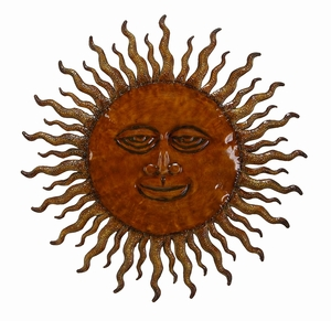 Sun God Spiral Rays Metal Wall Decor Sculpture with Detailing Brand Woodland