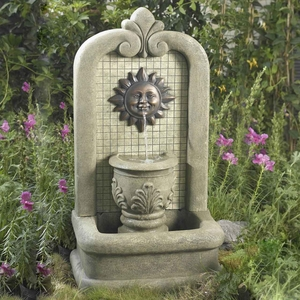 Sunface Floor Outdoor/Indoor Water Fountain with 5 metre Cord Brand Zest