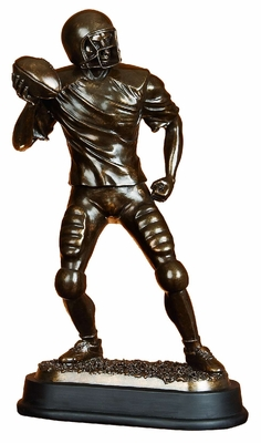 Super Football Player Statue Sculpture in Brown Metallic Finish Brand Woodland