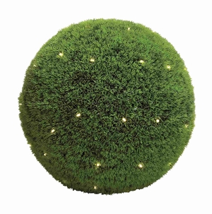 "Super Plastic LED Grass Ball 20""D with Green Leaf Patterns Brand Woodland"