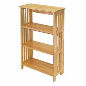 Superb & Appealing Piece of Folding 4-Tier Bookshelf by Winsome Woods