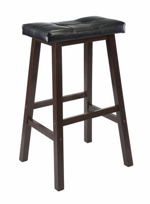 "Superb Piece of Mona 24"" Cushion Saddle Seat Stool by Winsome Woods"