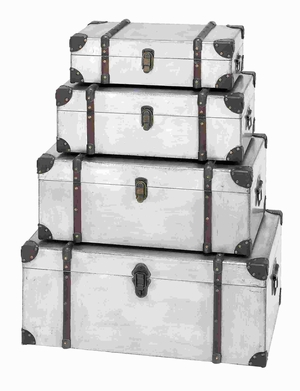 Superior Grade Metal Trunk with Spacious and Convenient Design Brand Woodland