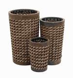 Superior Grade Wood Pe Planter with Classy Design (Set of 3) Brand Woodland
