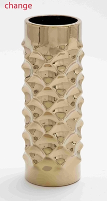 "Superior Quality 15"" Ceramic Vase in Gold with Attractive Design Brand Woodland"