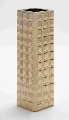 Superior Quality Ceramic Vase in Gold with Attractive Design Brand Woodland