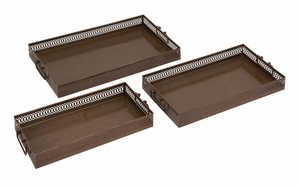 Surprisingly Beautiful Metal Tray by Woodland Import