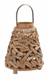 Surprisingly Creative Driftwood Metal Lantern by Woodland Import