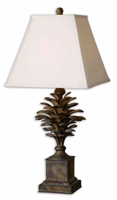 Suzuha Metal Leaves Table Lamp with Light Undertones Brand Uttermost