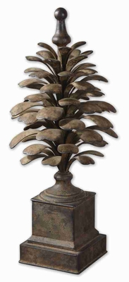 Suzuha Style Rooftop Finial With Aged Ivory Finish Brand Uttermost