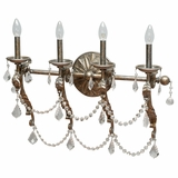 Swag Collection Attractive Styled 4 Lights Vanity Lighting in Caribbean Gold by Yosemite Home Decor