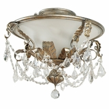 Swag Lighting Collection Attractive Stylized 3 Light Flush Mount in Caribbean Gold by Yosemite Home Decor