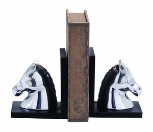 Swanky Style Aluminum Horse Bookend Elegant Library D�cor Brand Woodland