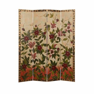 Sweet Nectar Floral Screen Hand Painted with Artistic Detailing Brand Screen Gem
