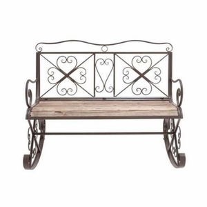 Swindon Sophisticated Charismatic Rocking Bench - 41402 by Benzara
