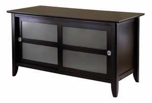 Winsome Wood Syrah TV Stand with Stylish Sliding Door Two Shelf Cabinet