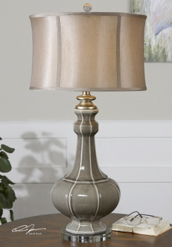 Table Lamp - Elegant Table Top Lamp With Antique Ceramic Brand Uttermost