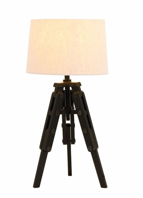 Old World Table Lamp With Tripod From Nostalgic Silent Film Era - 67676 by Benzara