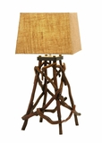 Table Top Lamp With Bundled Driftwood For a Natural Look Brand Woodland