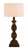 Table Top Lamp With Hand Carved Wood For a Natural Look Brand Woodland