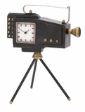 Tabletop Clock - Charming Clock Made Like a Film Camera Brand Woodland
