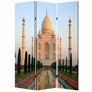 Taj Mahal Screen, 3 Panel Canvas Screen, 48 Inch L X 72 Inch H Brand Screen Gems