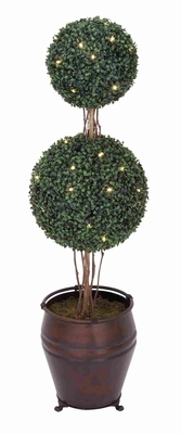 Tall Double Boxwood Ball Tree Made From Durable Plastic Brand Woodland