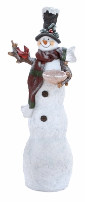 "Tall Wood Santa 46""H Holiday Decor"