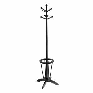 Tall Wooden Linea Coat Tree with Sturdy Stand by Winsome Woods