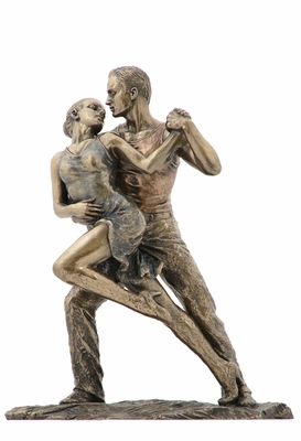 Tango Openflair Statue with Two Dancers in Cold Cast Bronze Brand Unicorn Studio