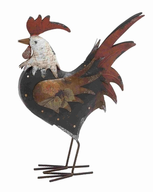 Tanzania Magnificent Styli Metal Rooster Brand Benzara