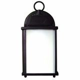 Tara Collection Classic Styled 1 Light Exterior Light Wall Mount in Black by Yosemite Home Decor