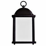 Tara Collection Stylish Black 1 Light Exterior Light Wall Mount with Frosted Glass by Yosemite Home Decor