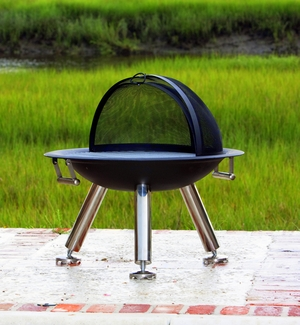 Taranto Fire Pit, Strong Base Plus Chic Design Utility by Well Travel Living