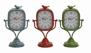 Taranto Vividly Assorted Charming Table Clock Set Brand Benzara