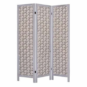 Tarbert Fabric Screen Wood Frame Crafted with Artistic Detailing Brand Screen Gem