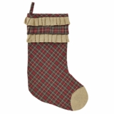 Tartan Holiday Stocking 11x15