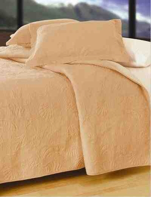 Taupe Shells Coastal Decor Nautical Quilt Luxury Twin Bedding Ensembles Brand C&F