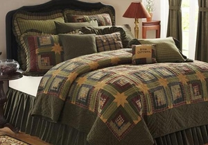 Tea Cabin Cotton Filling Queen Quilt with Attractive Colors 94X94 Brand VHC