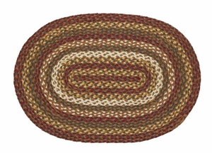 Tea Cabin Oval Braided Rugs Brand VHC