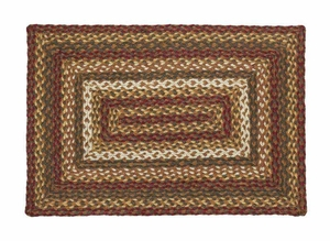 Tea Cabin Rectangle Braided Rugs Brand VHC