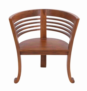 """Teak Material 30"""" Brown Wooden Chair for Indoor and Outdoor Brand Woodland"""