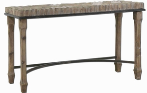 Tehama Antique Console with Sanded and Burnished Fir Wood Brand Uttermost