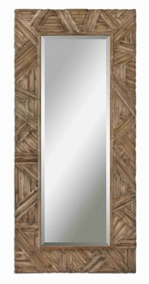 Tehama Wall Mirror with Burnished Walnut Wood Frame Brand Uttermost