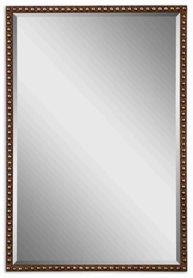 Tempe Distressed Mirror with Rusty Brown and Silver Forged Frame Brand Uttermost
